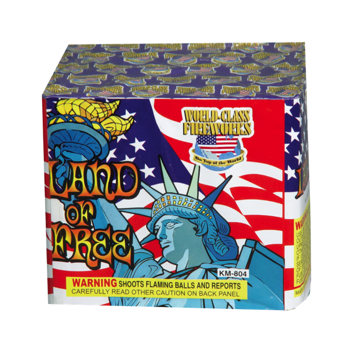 Land of the free big daddy k 39 s fireworks outlet for Free land 2017